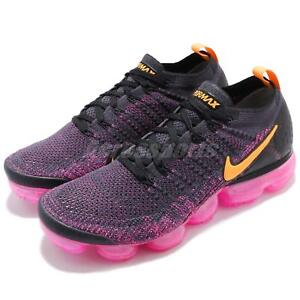 0002834cb3 Nike Air Vapormax Flyknit 2 II Pink Blast Orange Men Running Shoes ...