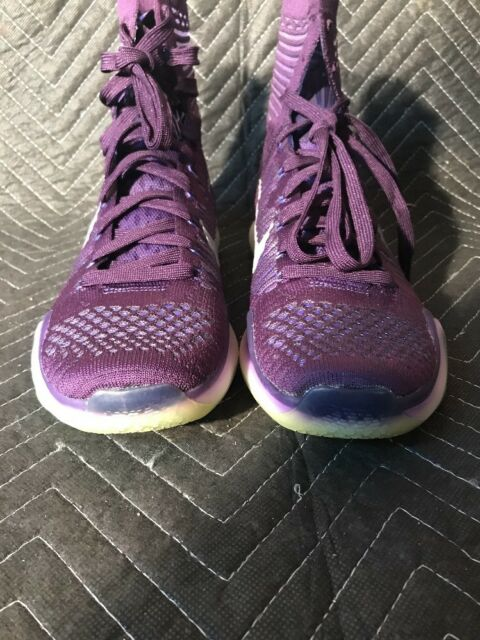separation shoes 93293 4dc82 Nike Kobe X 10 Elite High 718763-505 Purple Ink Persian Violet Silver Size  9.5