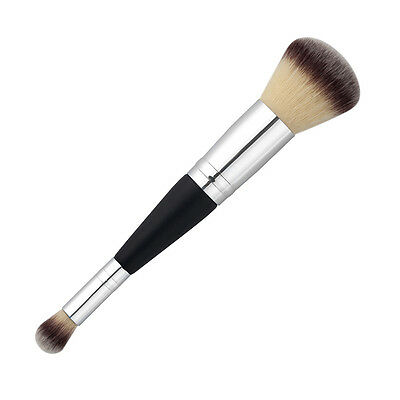 Double Head Cosmetic Contour Face Blush Eyeshadow Powder Foundation Makeup Brush