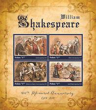 Palau-2016-literature,famous people-William Shakespeare 400th anniversary