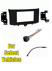 Double-Din-Car-Radio-Install-Dash-Kit-Combo-for-2011-2012-2013-Smart-Fortwo