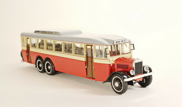 Scale model bus 1 43 YAA-2 Gigant 1934 1934 1934 (red) dab800