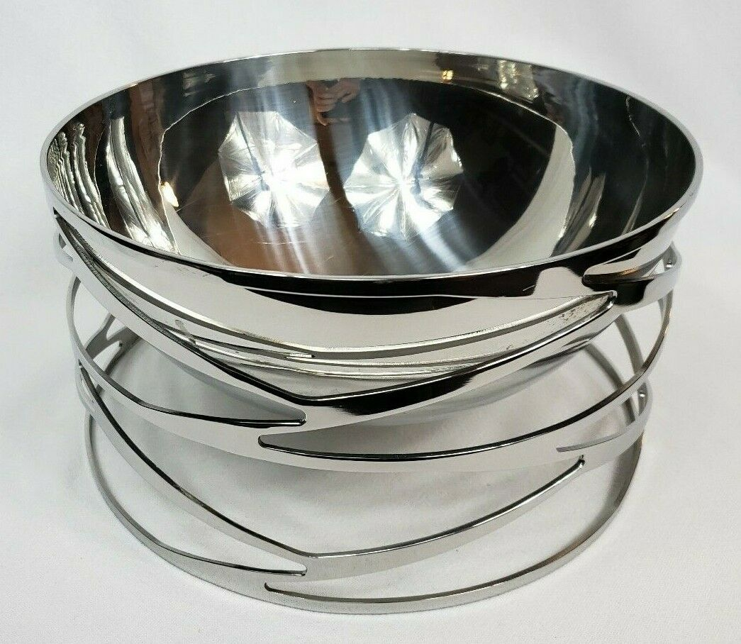 STUNNING RIVA TRAMA COLLECTION SALAD BOWL 10 1 2  RARE JACQELINE TERPINS