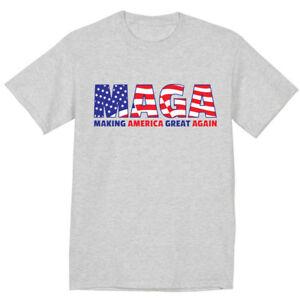 MAGA Trump 2020 Build The Border Wall Construction America First Men/'s Tee Shirt