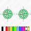 2x-Compass-Caravan-Graphics-Kit-navigation-auto-sleeper-sticker-decals thumbnail 5