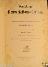 Brockhaus` Konversations-Lexikon 14. Auflage 5. Band 1894 Konversationslexikon