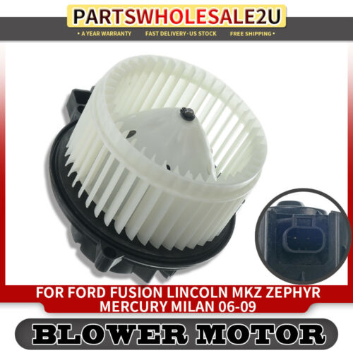 Blower Heater Motor w//Fan Cage for 2006-2009 Ford Fusion MKZ Zephyr Milan 700169