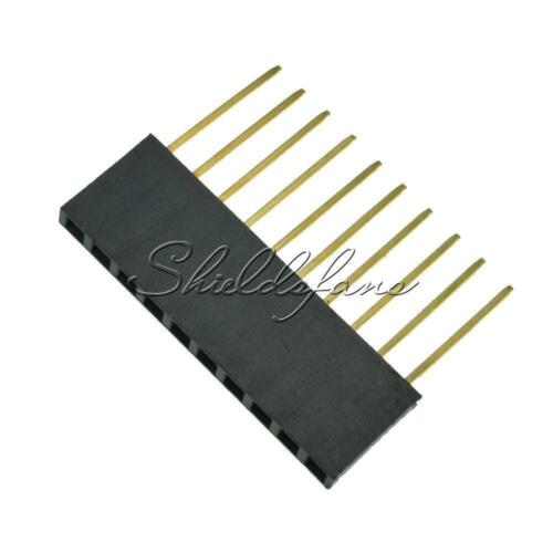 2.54mm pitch Stackable Header Pins 6//8//10 Pins for Arduino Shield UNO MEGA DUE