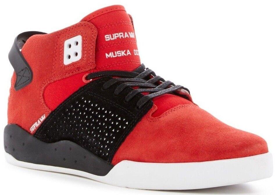 Nuevo En Caja Supra Skytop III MID Hombre zapatilla de deporte Rojo-blancoo