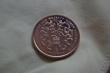 """RARE UNC 1996 GIBRALTAR VIRENIUM  £5 COIN  """"THE QUEENS 70th BIRTHDAY"""""""