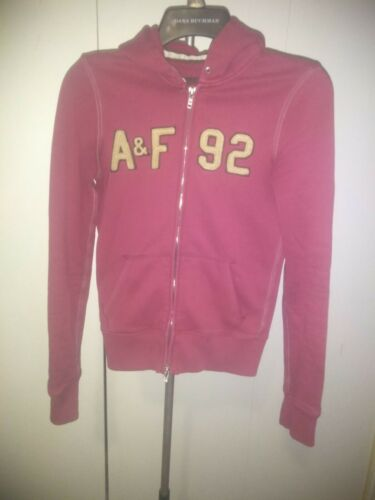 Abercrombie & Fitch Red Zip Up Hoodie Small