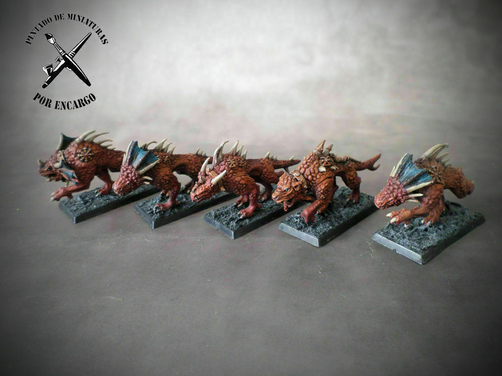 Flesh Hounds of Khorne daemons Warhammer Age of Sigmar pro painted