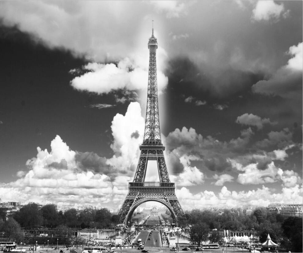 3D Paris Eiffelturm 2 Fototapeten Wandbild Fototapete Bild Tapete Familie Kinder