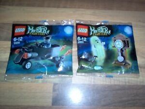 Lego-Monster-Fighters-Set-30200-amp-30201-Zombie-Chauffeur-amp-Ghost-Clock