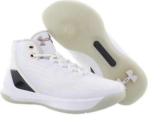 the latest 3c3fa 1e6b9 Details about NEW UNDER ARMOUR CURRY 3 Boys Basketball Shoes White/Rose  Gold SELECT SIZE
