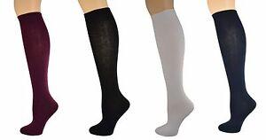 Sierra-Socks-Girl-039-s-School-Uniform-Knee-High-3-pair-Pack-Cotton-Socks-G7200-2321