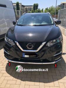 modanature-sotto-paraurti-per-Nissan-Qashqai-17-19-anteriore-abs-cromo-originale