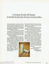PUBLICITE ADVERTISING 115  1971  le briquet de  table  DUPONT