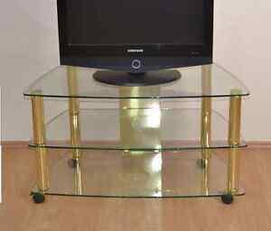 Das Bild Wird Geladen Phonotisch Messing Phonowagen Mit Rollen TV Tisch Rack