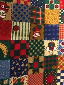 Lot of Christmas Patchwork Cotton Quilting Fabric  ~ 2591