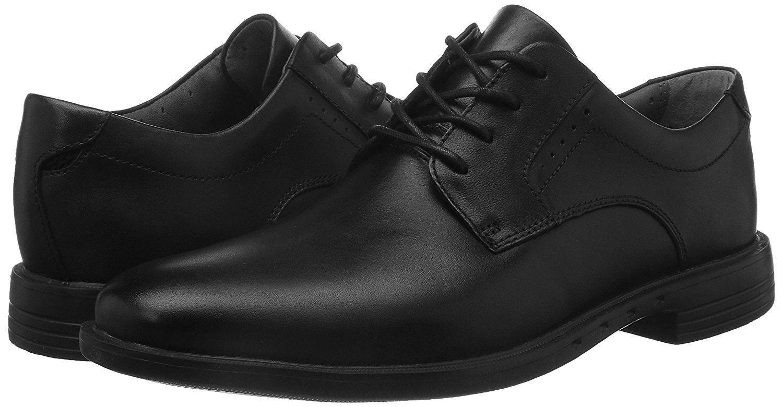 Men Dress shoes Clark's Unbizley Plain Lace Up Rubber Sole Leather Black  160