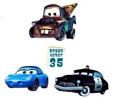 "2"" DISNEY CARS MATER CHIEF  MINI SET PEEL STICK WALL BORDER CUT OUT  CHARACTER"