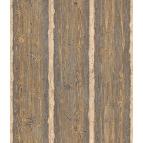 NEW Double Roll Designer Wallpaper Rough Hewned Logs Parkview Pattern 41380