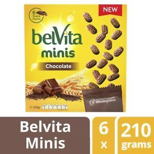 Belvita Minis Chocolate Biscuits 6 Packs 210 grams