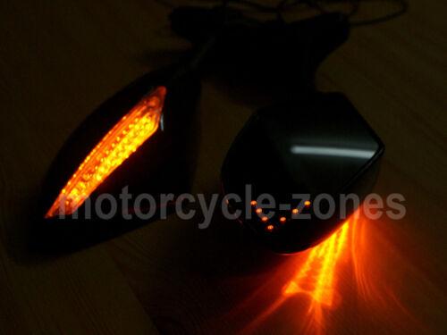 LED INTERGRATED TURN SIGNALS MIRROR FOR KAWASAKI NINJA 250 636 ZX6R 7R 9R ZX10R