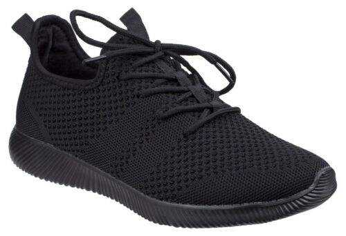 Divaz Womens Heidi Knit Shoe Black