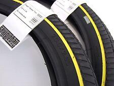 X 2 / Set Of Two Tyres  -  Ilegal Yellow BMX Amplo Tyre 20 x 2.35 -  BMX BIKE -