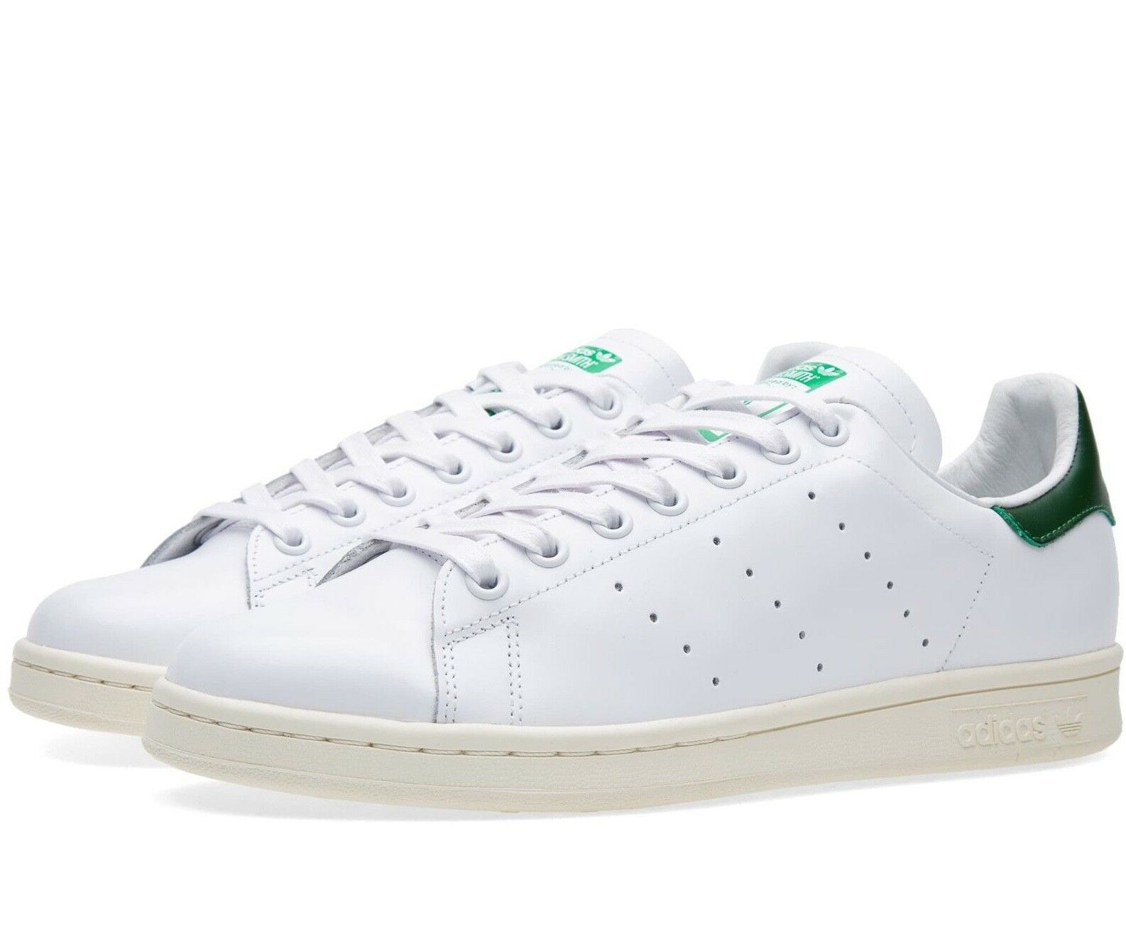 Adidas Originals Stan Smith Homme Trainers Leather Chaussures - B24364 - Blanc Vert