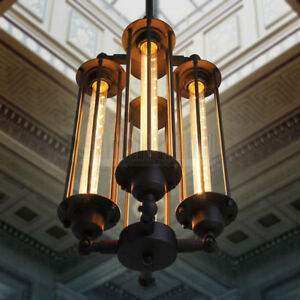 Image Is Loading Steampunk Style Chandelier Vintage Pendant Light Loft