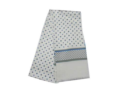 Bianca Azzurri 18 Seta Blanc Tubolare 140 Bianco 15 Sciarpa Made White Disegni Con Blanc Weiss Grigio Italy 5Xdw1q