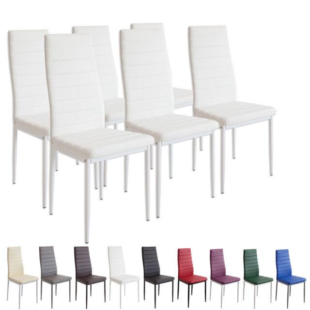 6 X Esszimmerstühle MILANO   Weiss   Esszimmerstuhl Küchenstuhl Stuhl Stühle