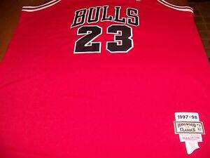separation shoes 4fb8f eabc2 Details about Michael Jordan Chicago Bulls 1997-98 Hardwood Classic #23  Jersey