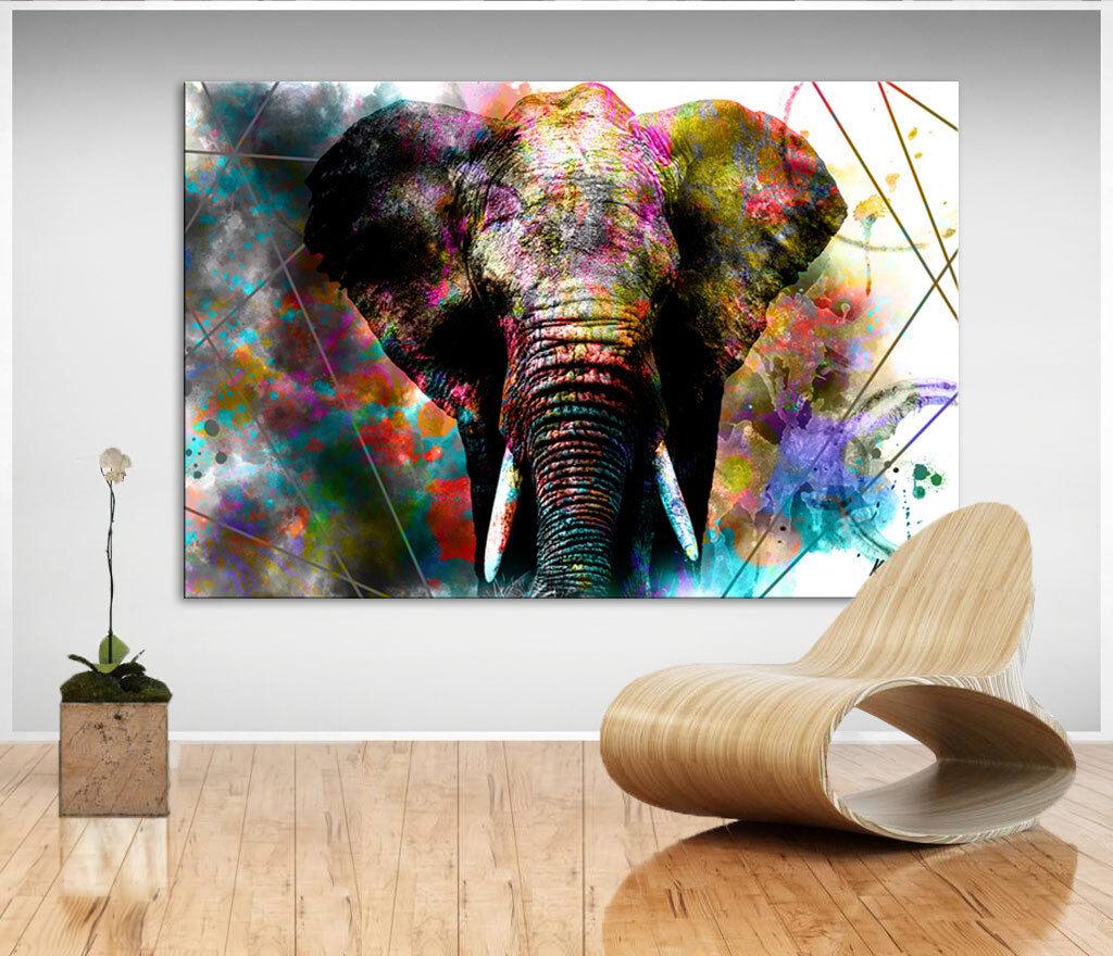 Wandbilder Elefant Tier Natur Bild Leinwand Abstrakte Kunst Bilder Neu D1548