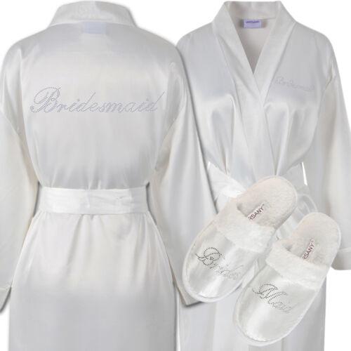 in in Pantofole vestaglia vestaglia con e raso raso Kimono strass con OwdqU