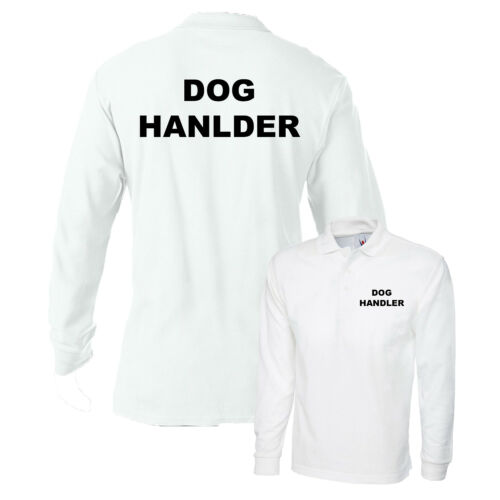 Maglietta Polo Handler per Cane Nero Bar Workwear PORTIERE K9 personale Guard XS-4XL