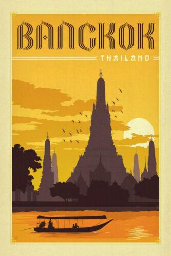 Bangkok Thailand Travel Poster Vintage 14x21 24x36 T297