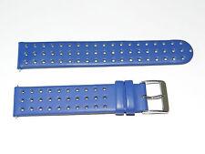 Junghans,Uhrenarmband,Leder,19 mm,mit Steg,Blau,Watch Strap,Retro,HAU,Band,NOS