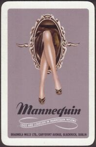 Playing-Cards-Single-Card-Old-MANNEQUIN-STOCKINGS-NYLONS-Advertising-GIRLS-LEGS