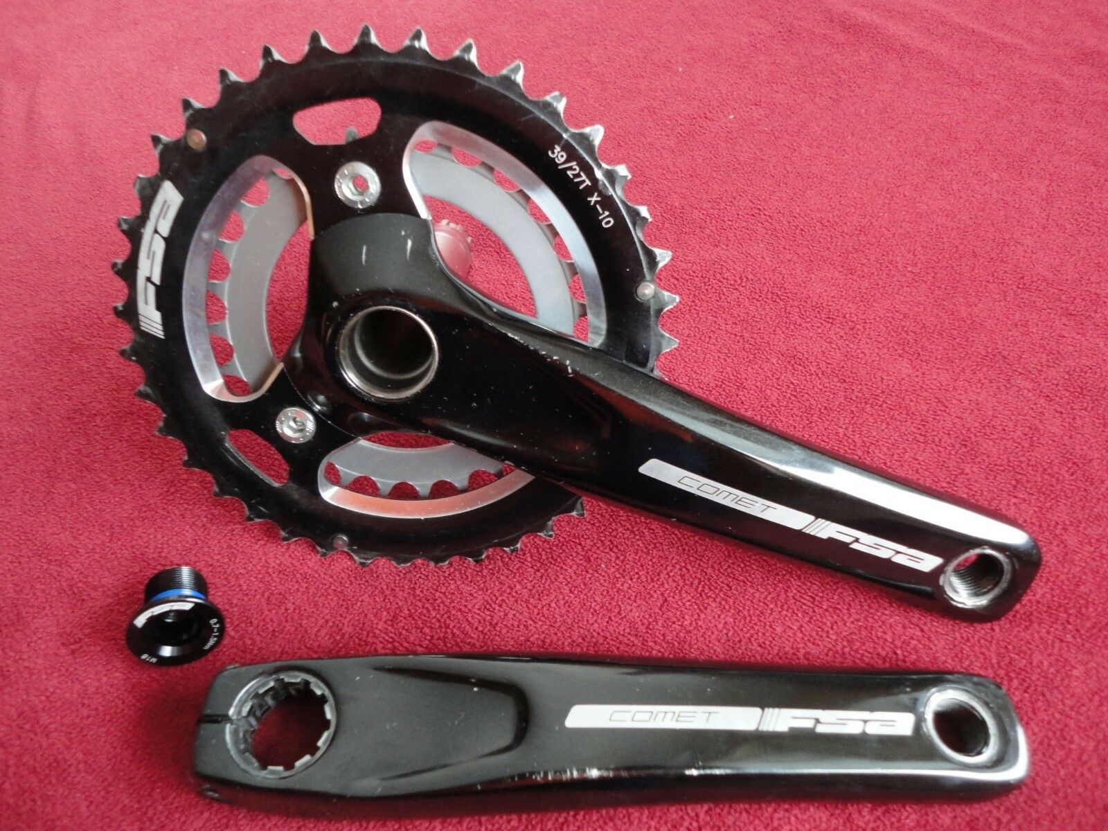 FSA COMET 2 X 10 Velocidad Mountain Bike Manivela Conjunto con platos 39 27T longitud 175mm