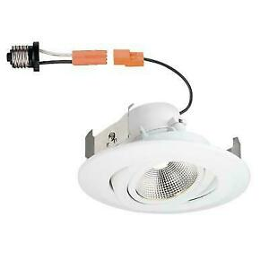 Commercial Electric 4 White Recessed Led Trim