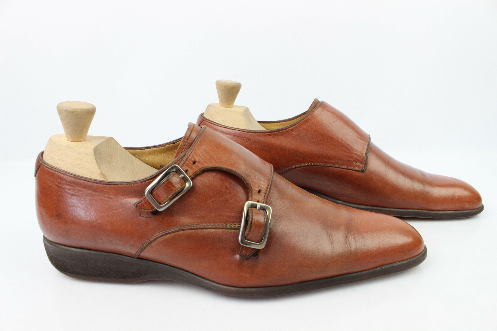 Oxfordschuhe Schnallen alle Leder braun UK 7,5 / guter Zustand