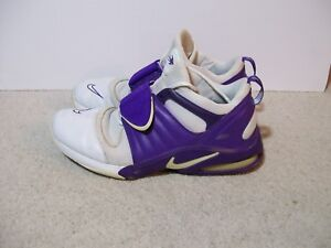 Details about Nike Flight Max Air Basketball Shoes White Purple Size Men 13.5