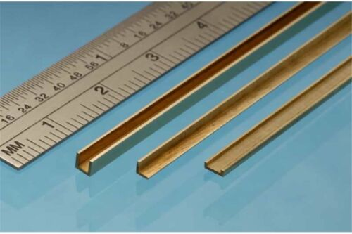 1p. ALBION ALLOYS A3 Laiton Brass Angle 3 x 3 mm