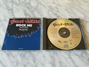 Great White Rock Me CD Single PROMO! ORIGINAL 1987 Capitol DPRO-79061 RARE! OOP!