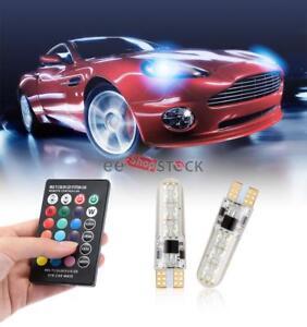 Ampoule-T10-W5W-Led-RVB-Feux-De-position-SMD-RVB-T10-LED-couleur-Telecommande