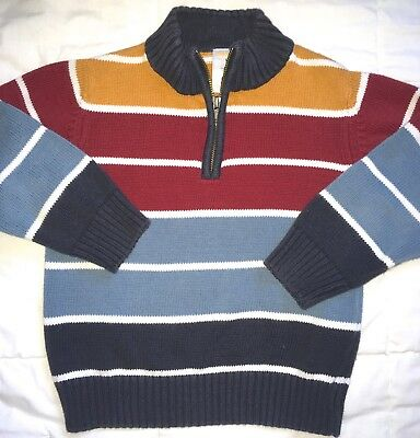 GYMBOREE GRIZZLY LAKE MULTI COLOR STRIPE SWEATER 3 4 NWT